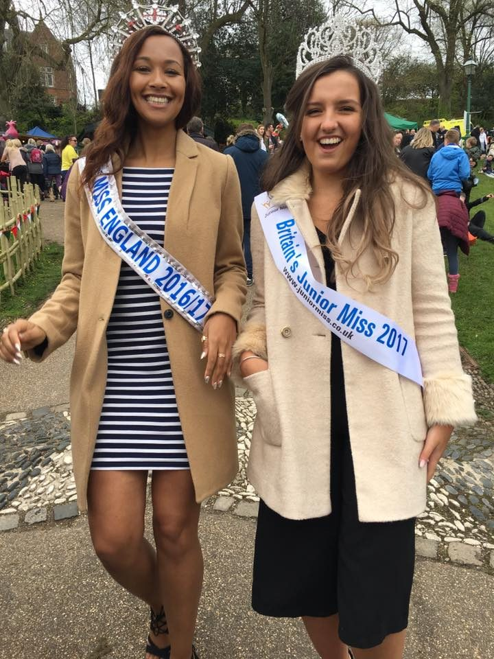 Elli with Elizabeth Grant the current Miss England Pic: Louise Westwood