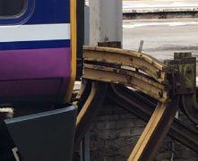 The damage to the buffer as the train came into the station Pic: Mark Ormerod