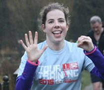 Catherine will be doing the parkrun and then walking, not sprinting, down the aisle