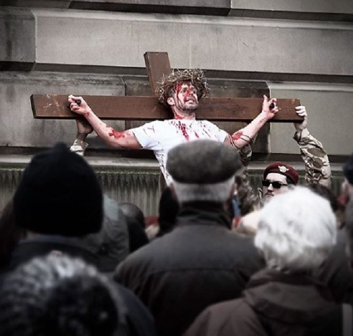 Christ's crucifixion took place in the Flag Market Pic: Stuart Bulman