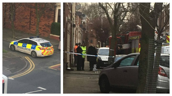 Part of St Stephen's Road and St Philip's Road were cordoned off during the incident Pic: Annie Edmondson