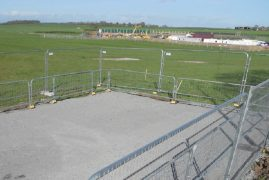 A fenced off area has been set up by Cuadrilla