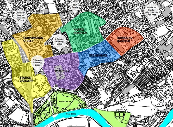 Here's the areas they want to see developed in the city centre