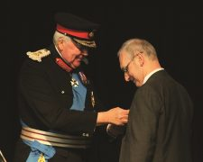 Ron receives his medal