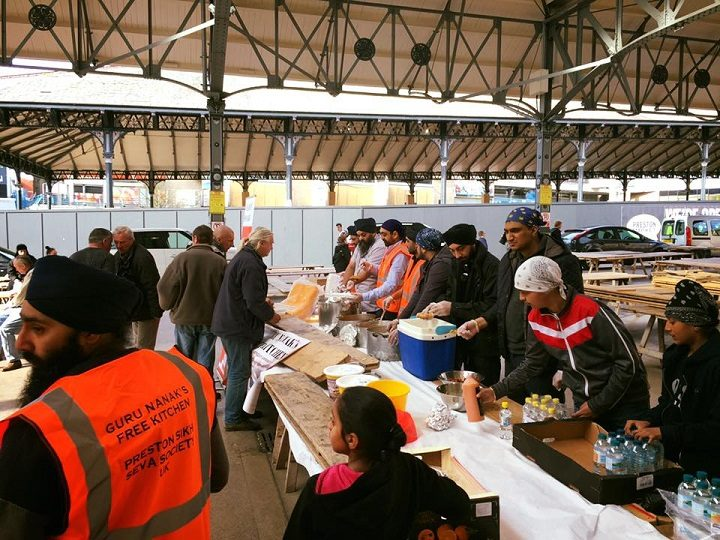 The Sikh kitchen in action under the Fish Market canopy
