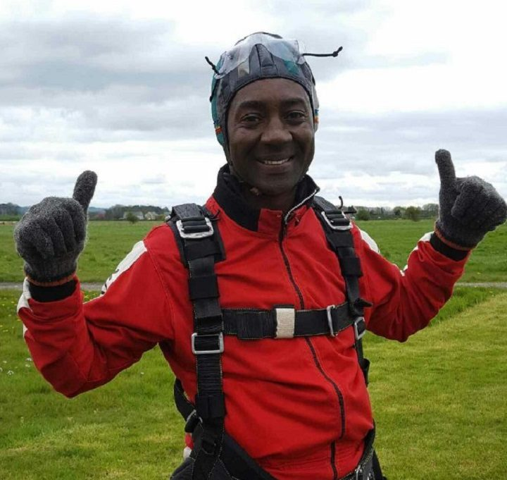 Michael after his daring jump!