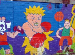 A mural in Larches Pic: Tony Worrall