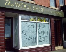 The Wool Shop closed its doors in late April Pic: Tony Worrall