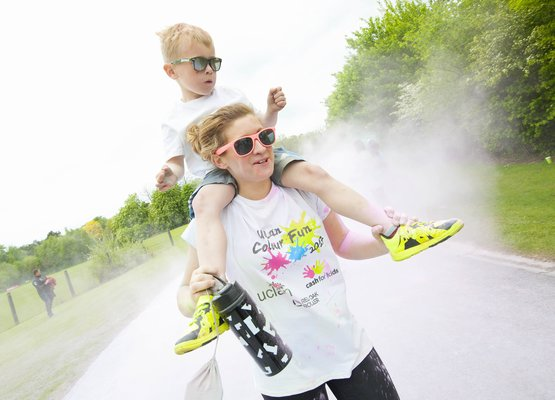 Taking on the colour run