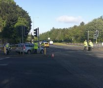 Police have taped off the A583 Pic: Benny McNally, Preston Chatterbox