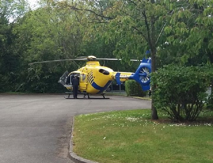 The air ambulance was called to the scene, but was stood down Pic: Kathryn Parkinson