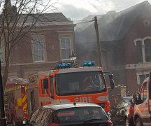 Fire crews in Avenham Place Pic: Kacper Krol