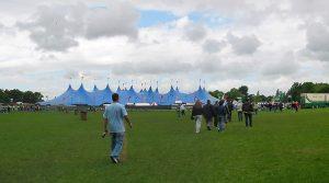 Radio 1 Big Weekend's big blue tent Pic: George D Thompson