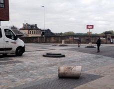 A Fishergate bollard has been sent tumbling Pic: Michael Bates-Tracey