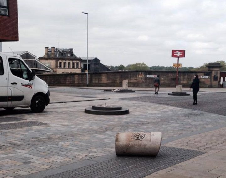 A Fishergate bollard has been sent tumbling Pic: Michael Bates-Tracey