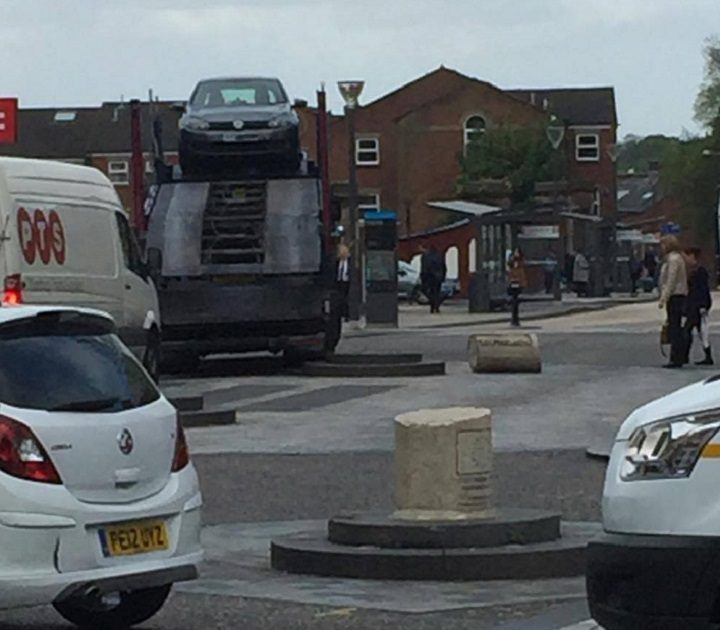 Another view of the bollard incident Pic: Neil Ballantyre