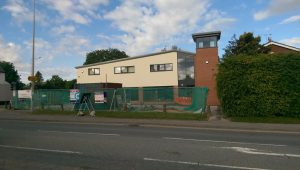 A side view of the Broughton crossroads offices which could potentially become a bar