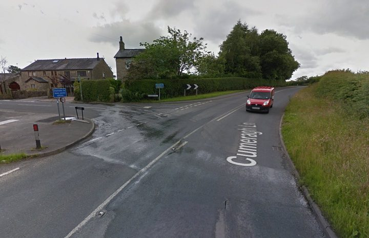Cumeragh Lane has been closed to traffic Pic: Google