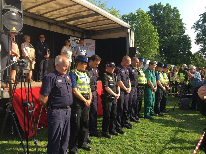 Emergency services during the minute's silence