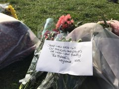 A message left by mourners