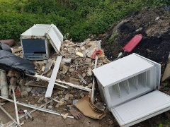 Part of what the fly-tippers left behind Pic: Reece Catterall