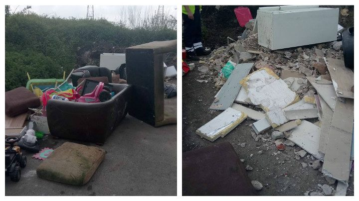 Another view of the waste found in Wallend Road Pic: Reece Catterall