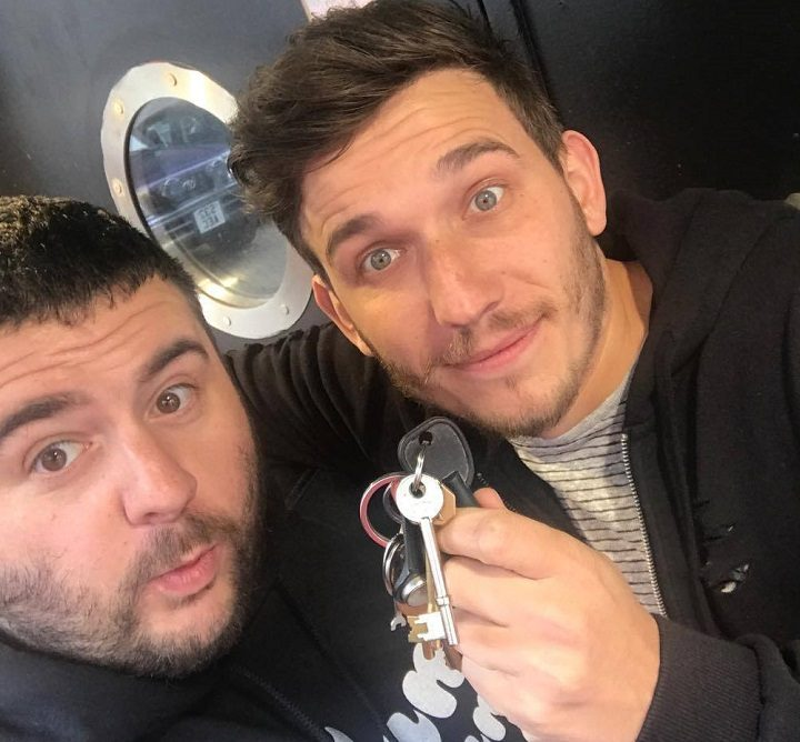Darren and Haydn with the keys to what used to be Cameo nightclub