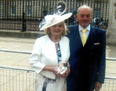 Jos and George at Buckingham Palace