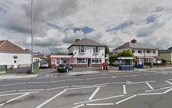 The Post Office in Blackpool Road where the incident took place Pic: Google