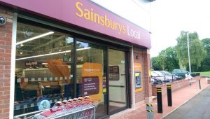 Sainsbury's in Ingol with finishing touches being made