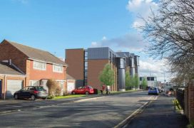 How the new flats would look next to existing homes in Maudland Bank