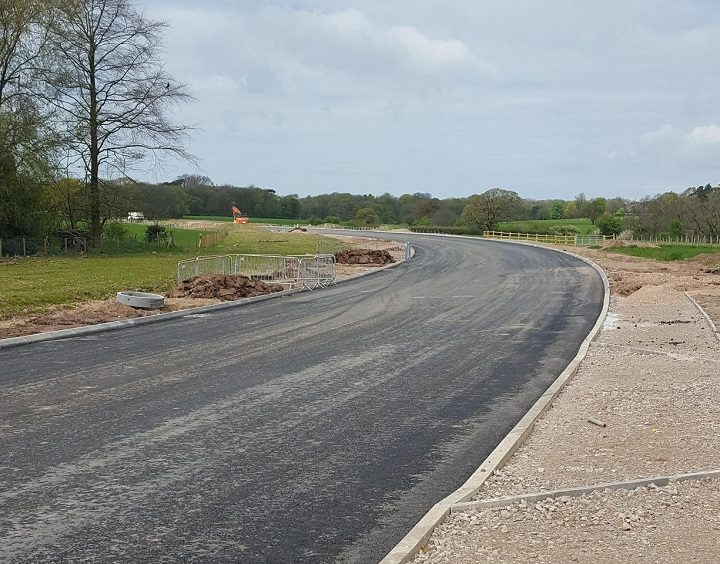 A section of the new bypass - with tarmac!