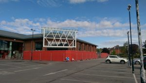 Work is ongoing to refurbish the former Tesco store