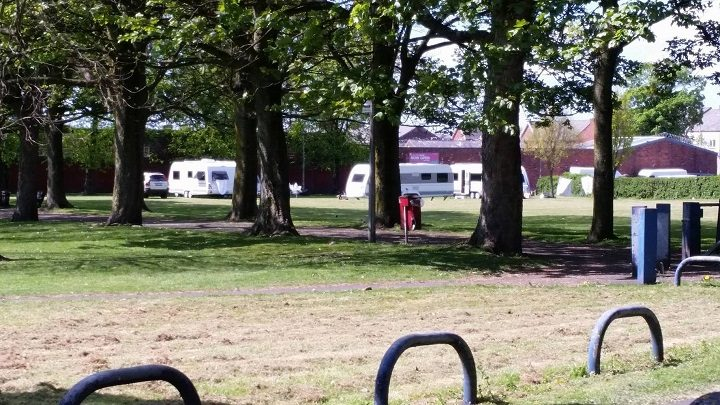Caravans have arrived at the park in Ribbleton Pic: Graham Robinson