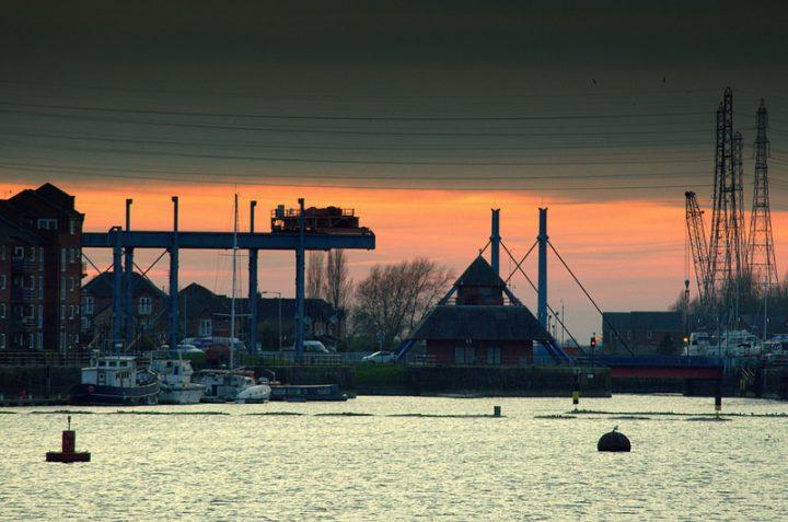 Sunset at Preston Marina Pic: Tony Worrall