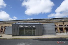 Preston Station's new side entrance Pic: Paul Melling