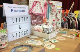 One of the stalls at the baby sale