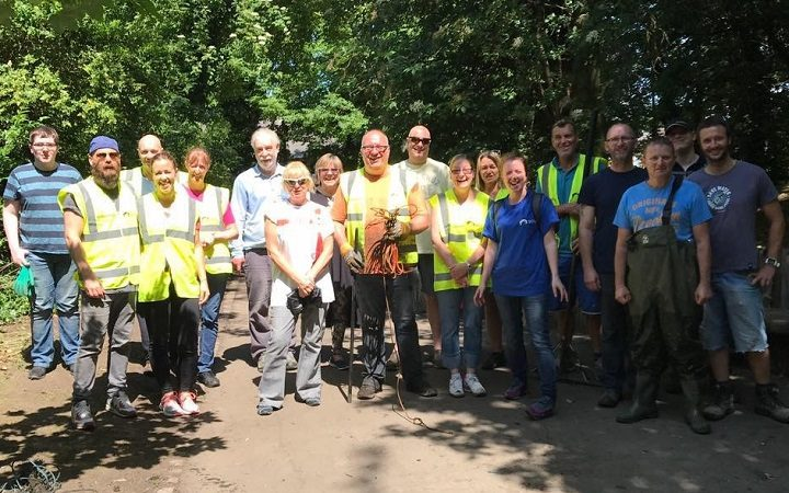 The canal clean up crew from Shelley Road