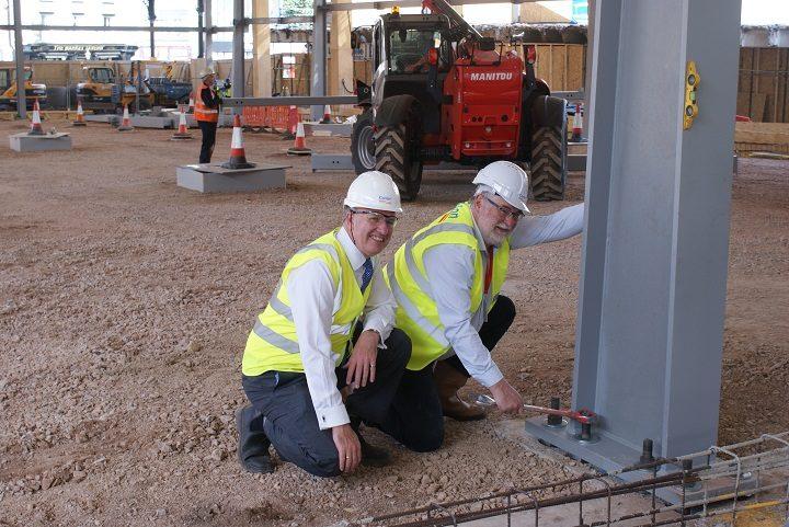 Michael Conlon from Conlon Construction and councillor Robert Boswell