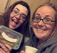 Amy Waddington and Jade Cannon with their treats