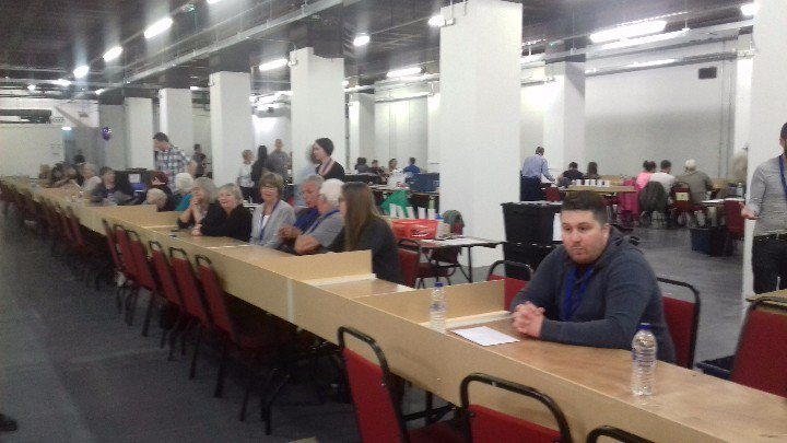 Election counters awaiting starters orders in Preston