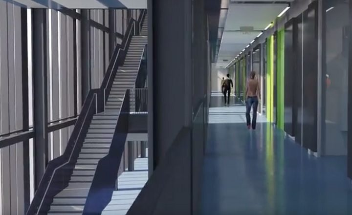 Inside the new engineering building at UCLan
