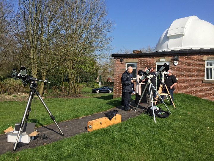 The Moor Park observatory has recently seen a new ramp put in