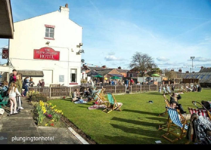 The beer garden at the Plungington Hotel has been busy Pic: Plungington Hotel