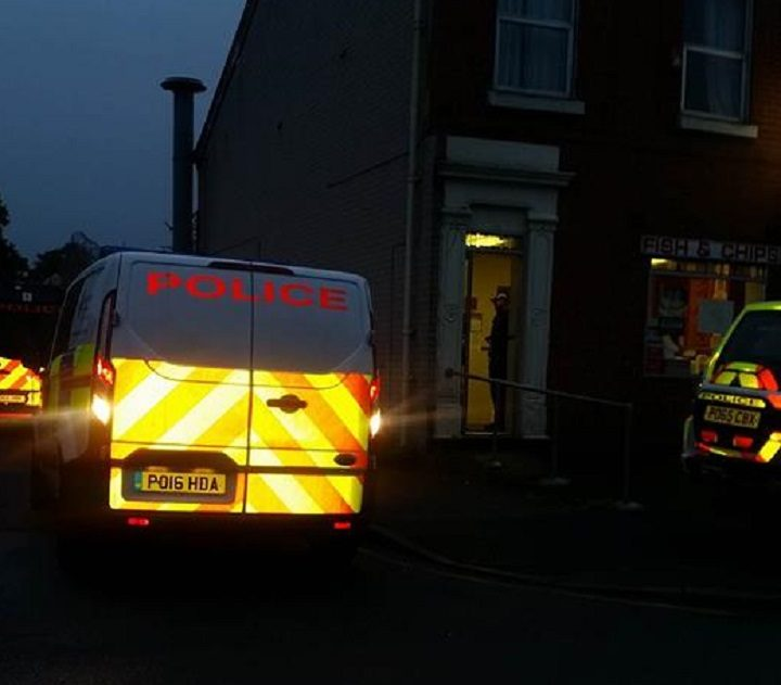 Police in attendance at the Chinese takeaway in Ribbleton