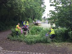 Volunteers cleaning up the canal in Ashton-on-Ribble