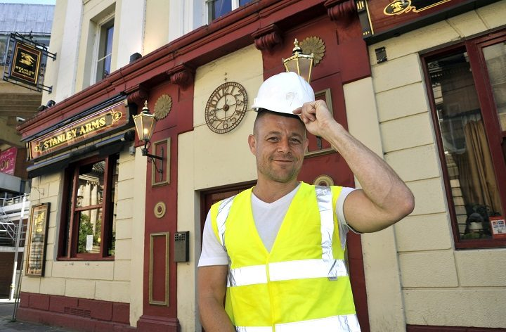 Paul is the new man behind the bar at the Stanley