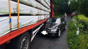 Crash in Brabiner Lane Pic: Preston Police