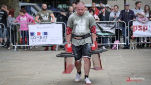 One of the dead lifts during the contest