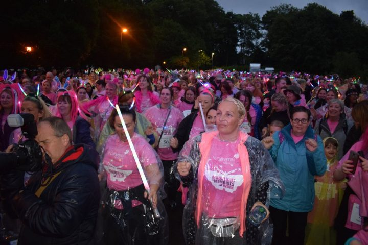 The Moonlight walk crowd